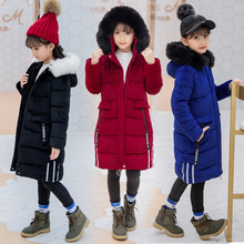 New Girl Winter Clothes Warm Jacket Kids Hooded Coat Cotton Princess Pink Color Jackets For Girls Outerwear Children Down Parkas carla bruni carla bruni french touch