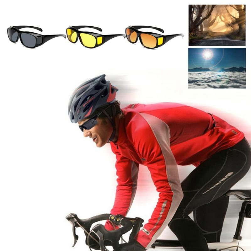 Unisex Polarized Cool Car Driving Glasses Night-Vision Glasses Protective Gears Sunglasses Night Vision Drivers Goggles