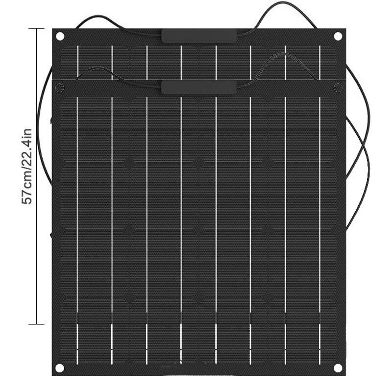 50W Solar Panel 12V Monocrystalline Solar Cell ETFE Semi Flexible Battery Charger system kit panel solar For Boat Caravan-in Solar Cells from Consumer Electronics    2