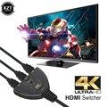 4K * 2K 3D Mini 3 HDMI-совместимый переключатель 1.4b 4K сплиттер 1080P 3 в 1 порт концентратор для DVD HDTV Xbox PS3 PS4 ТВ-приставки