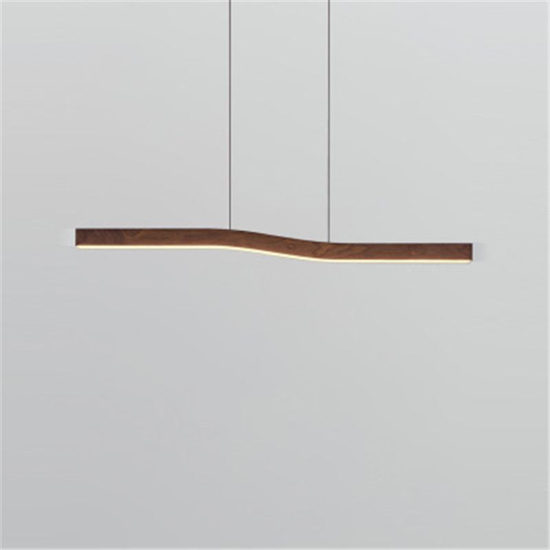 Italy Nordic Postmodern Creative LED Restaurant R Art Wood Grain Living Room Designer  Chandelier