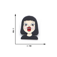 20pcs/Lot Enamel Pin Red Lips Kiss Style Brooches for Boys Girls Lapel Hat / Bag Jacket Custom Oil Drop Badge D120