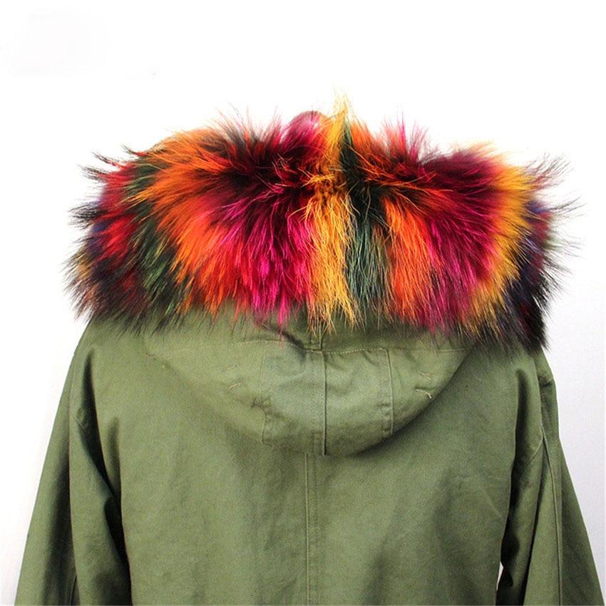 Зимняя женская Кожаная шапка с воротником из меха енота, мягкий цветной меховой шарф L5