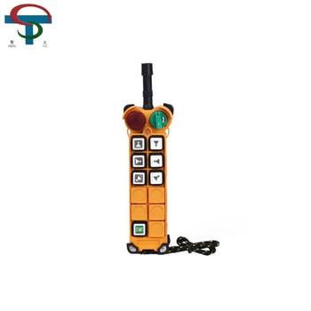 цена на 6 buttons 2 speed wireless radio crane remote control system F24-6D crane hoist radio remote control