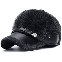 2019 Windproof Thick Warm Men's Hat Baseball Caps Faux Mink