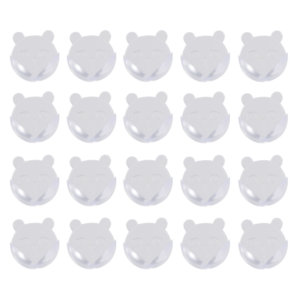 25Pcs PVC Bear Shaped Corner Guards Clear Furniture Table Edge Protectors Corner Bumper Baby Safety Supplies