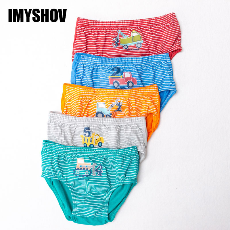 2019 Kids Underwear Boys Organic Cotton Panties For Toddler Baby Boy Cartoon Briefs Children Majtki Teenage Underpants 5 Pcs/Lot