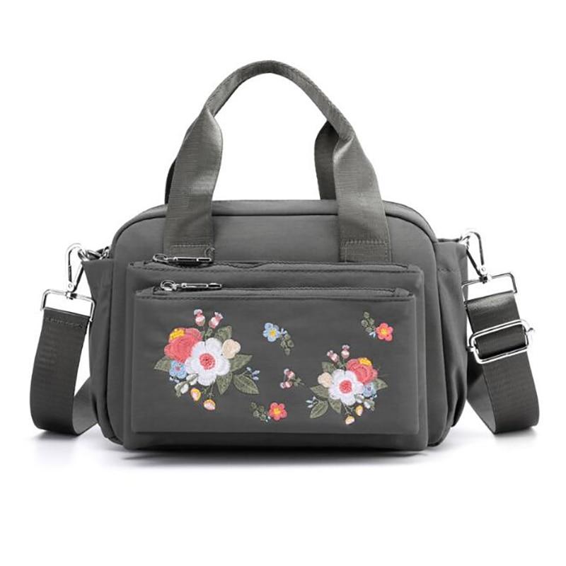 Baby Nappy Bag Diaper Bag Mummy Portable Bag Embroidery Outdoor Mother Waterproof Shoulder Bags Handbag BXY098