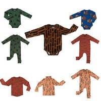 Bodysuits do bebê 2019 carlijnq nova marca outono infantil bebê meninas meninos impressão roupas de manga longa bebê recém-nascido roupas macacões