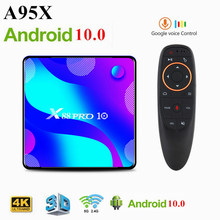 Caixa de TV inteligente Android CAIXA de TV 10 X88 PRO 4GB 128GB TVBOX Quad Core 8 RK3318 K HD 2.4G/5Ghz Wi-fi Youtube 3D Media Player Set Top Box