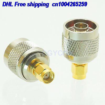 DHL 100pcs Conversion Adapter N Male M To RPSMA Male M RF  Coaxial Connector  For WIFI Adapter Connector  22cs