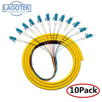 10PCS/LOT 12 Colors LC/UPC-SM(9/125)-G652D, Optical Fiber Pigtail Bundle Tail Free Shipping - discount item  3% OFF Communication Equipment