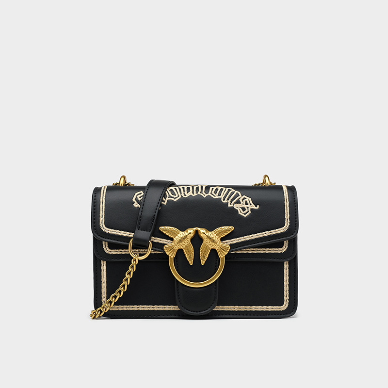 MAIDINI 2020 Autumn New Style Swallow Bag Square Sling Bag WOMEN'S Bag Shoulder Bag With Chain Retro Solid Color Small Bag