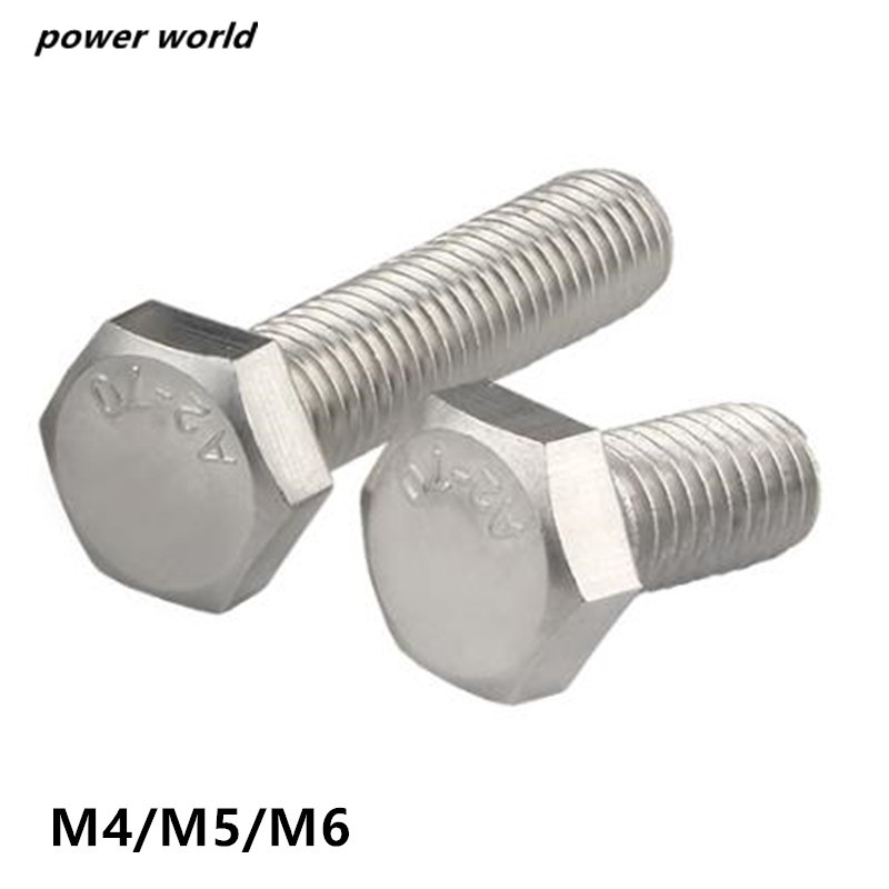 HEX NUTS /& WASHERS M4 STAINLESS STEEL HEXAGON HEAD SET SCREWS//BOLTS DIN 933