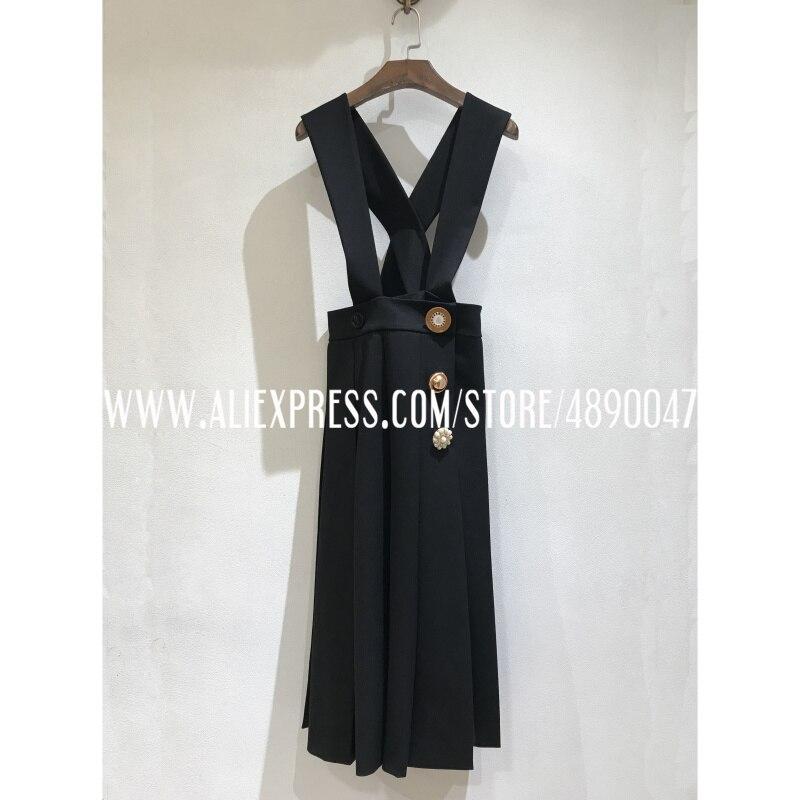 Rétro décontracté robe à bretelles femmes robe d'été 2020 été soie + laine robe haute qualité robe à bretelles