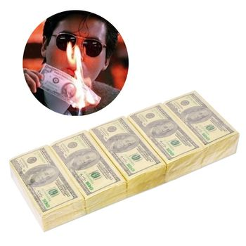 10 Sheets/Pack Funny Dollar Pattern Tissue Paper Disposable Towel Pure Wood Portable Money Napkin Handkerchief Party Tableware