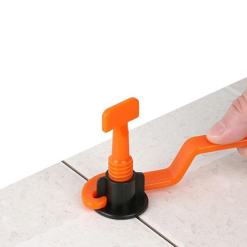 50pcs/lot Floor Tile Straightener T Shape Glazed Brick Circular Location Leveler Home Household Tool With Wrench