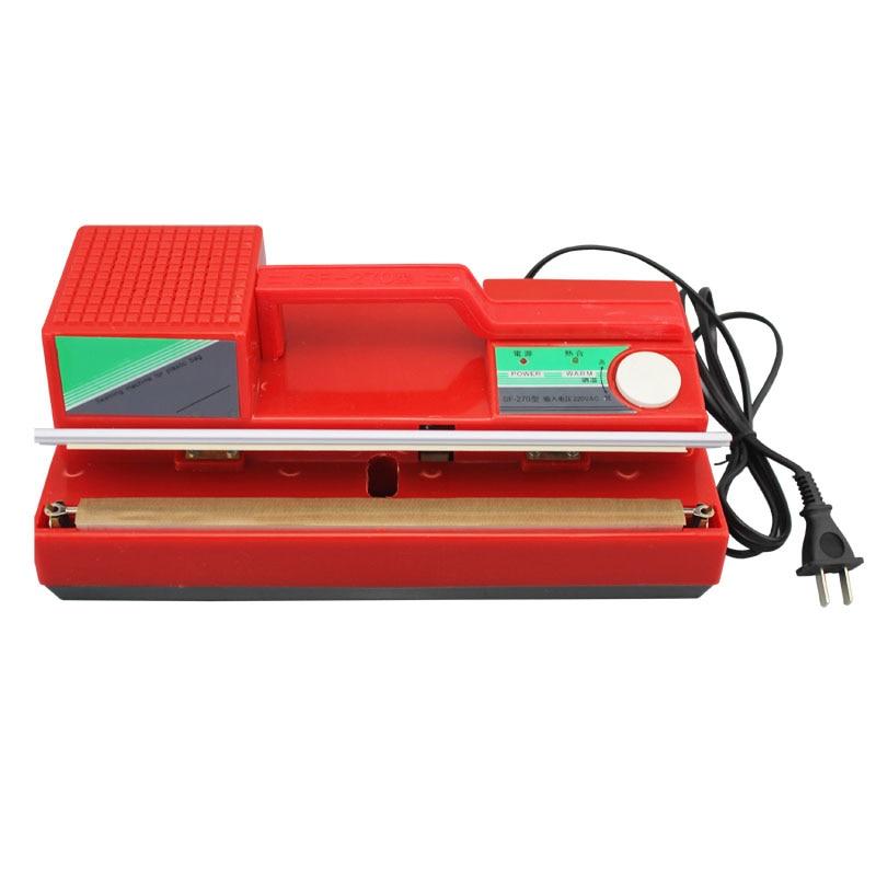 SF270 Type Desktop Manual Film Sealing Machine Hand Pressure Sealing Machine Tea Bag Moon Cake Packing Bag