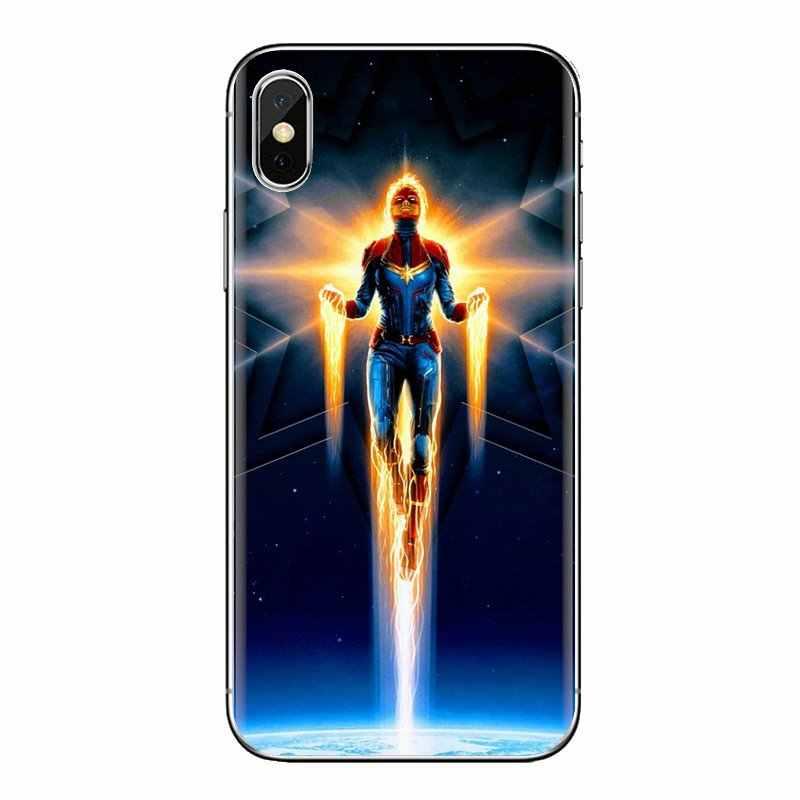 Kaptan Marvel Carol Dansçı cep telefonu Kılıfı Kapak Için Huawei Nova 2 3 2i 3i Y6 Y7 Y9 Başbakan Pro GR3 GR5 2017 2018 2019 Y5II Y6II
