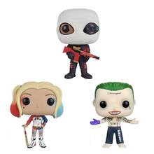 POP Toys Suicide Squad Joker Harley Quinn Deadshot Collection Model Toy PVC Doll Mini Figures Toys to Friend Kids Birthday Gift(China)