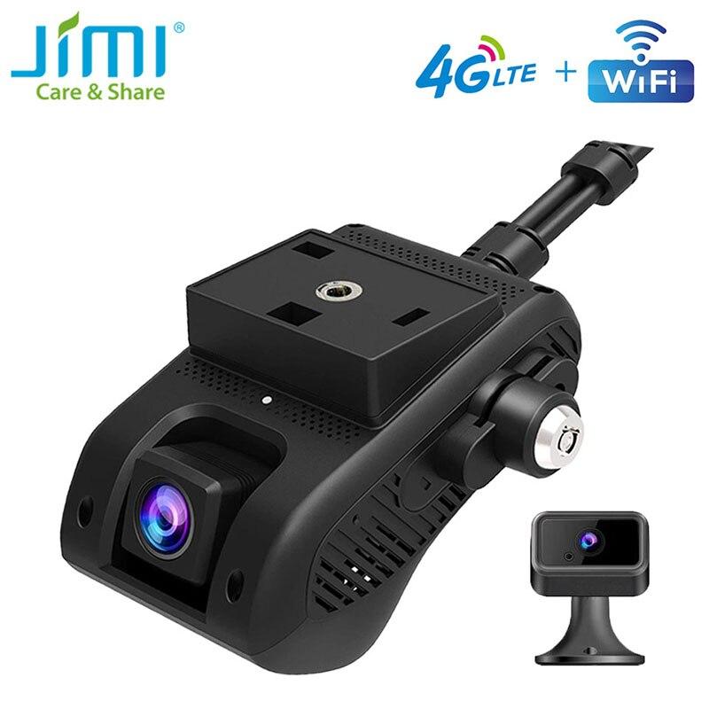 Jimi jc400 4g câmera do painel do carro com wifi transmissão ao vivo vídeo gps rastreamento por app/pc corte de combustível lente dupla dvr 1080p bluetooth