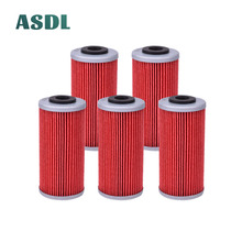 5 Pieces Motorcycle Oil Filter for Sherco SE 2.5i F SE 3.0i F SE 4.5i F SM 4.5i F SE 5.1i F SM 5.1i F