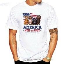 Camiseta divertida para hombres y mujeres, camisa de moda del 4 de julio, día de la independencia, Dachshund version 2