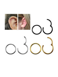 G23 Titanium Nose-Ring Nipple-Clicker Lip Piercing Jewelry Tragus-Helix Ear-Cartilage