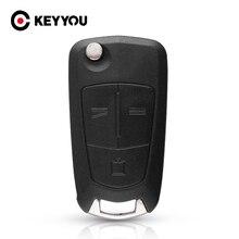 KEYYOU 10X 3 زر البعيد للطي حافظة مفاتيح السيارة لأوبل فوكسهول أسترا H كورسا D فيكترا C زافيرة أسترا فيكترا سيجنيام