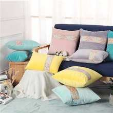 Home Decorative Solid velvet pillowcase Cushion Cover Pillow Cover Pillowcase decorative pillows(China)