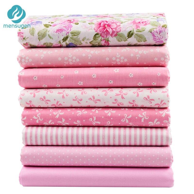 8 шт./лот 40 см * 50 см розовая хлопковая ткань для лоскутного шитья кукольная ткань платья шитье Рукоделие материал Сделай Сам Telas