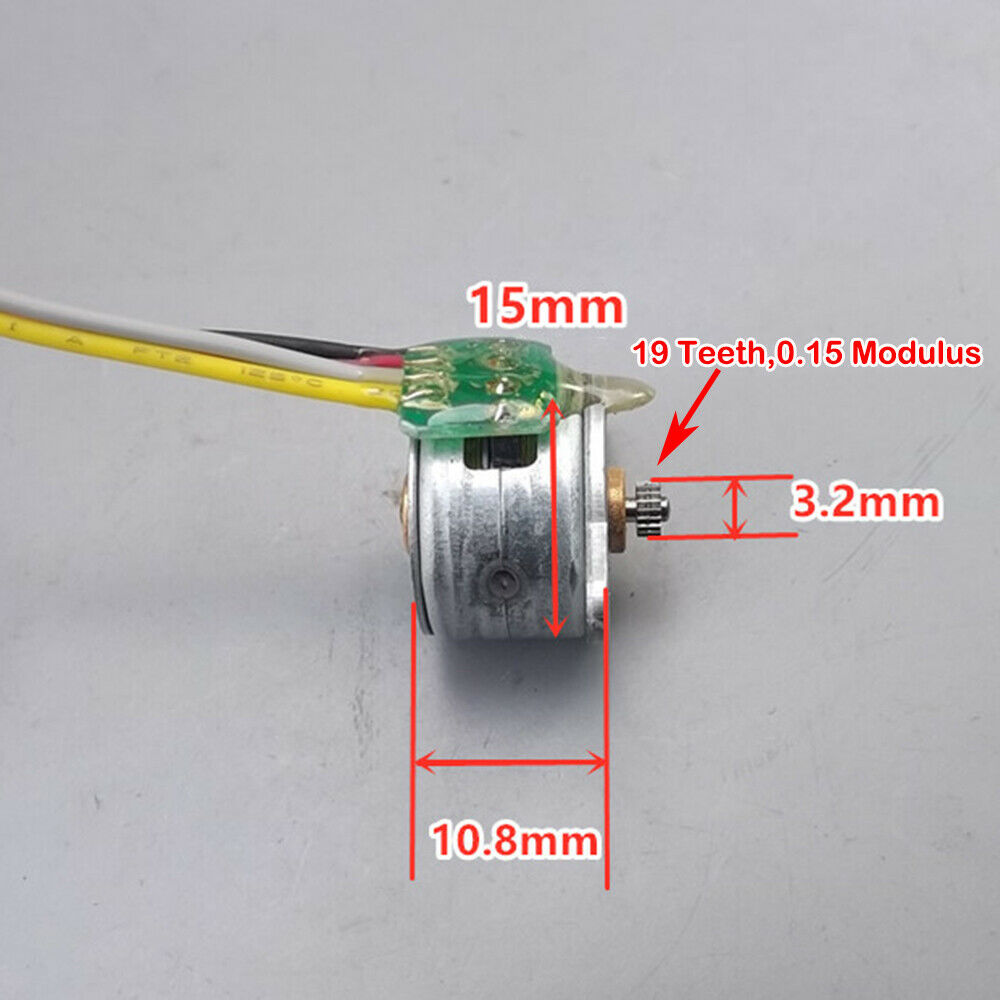 15BY25 Mini 15mm 2-Phase 4-Wire 8 Feet Micro Elongated Stepper Stepping Motor