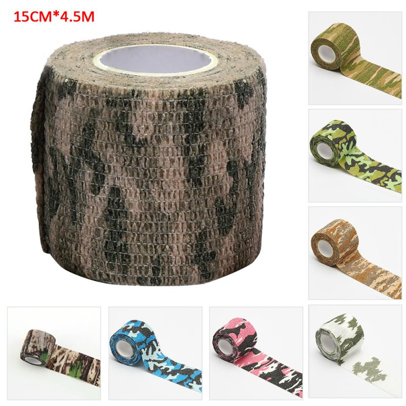 Outdoor Camouflage Non-woven Self-adhesive Elastic Bandage 15CM X 4.5M Camouflage Waterproof Multi-functional Bandage
