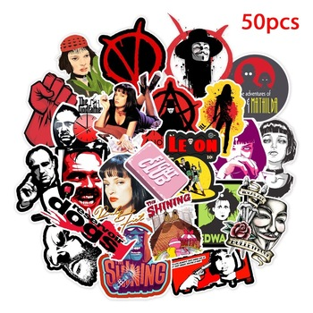 50pcs Classic Movie stickers For Luggage Laptop Art Painting Kill Bill Pulp Fiction Poster Stickers waterproof skateboard toy - discount item  30% OFF Classic Toys