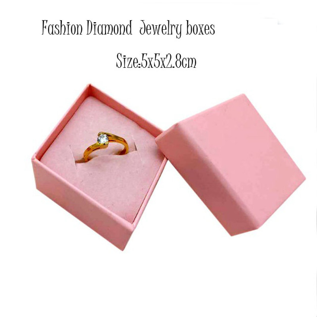 Diamond Jewelry Organizer Box Rings Storage Box Small Gift Box For Rings Earrings Pink Wedding Christmas gifts Boxes 5x5x2 8cm cheap ypacket DBX1950 Jewelry Packaging Display Cases Displays Paper Jewelry Gift box Hard Paper Pink foam Ring Earring Gifts