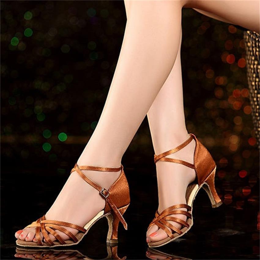 Women Sport Jazz Latin Dancing Shoes Female Girls Students High Heel Ballroom Dance Shoes Genuine Leather Sole Dance Sneakers
