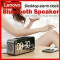 Bluetooth-Колонка Lenovo L022, беспроводной портативный сабвуфер, бас, светодиодный Будильник, TF-карта, AUX, FM, AM, встроенный микрофон