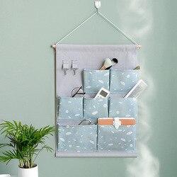 2019 bawełna i len do montażu na ścianie torba do przechowywania 7 etui wiszące Pokcet z hakiem drzwi do sypialni gospodarstwa domowego zabawki rozmaitości pojemnik