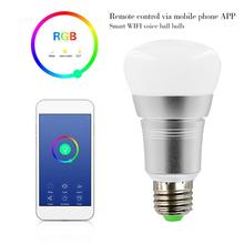 Smart WiFi Light Bulb 7W RGB Magic Light Bulb Lamp Wake-Up Lights Compatible With Alexa And Google Assistant Dropship