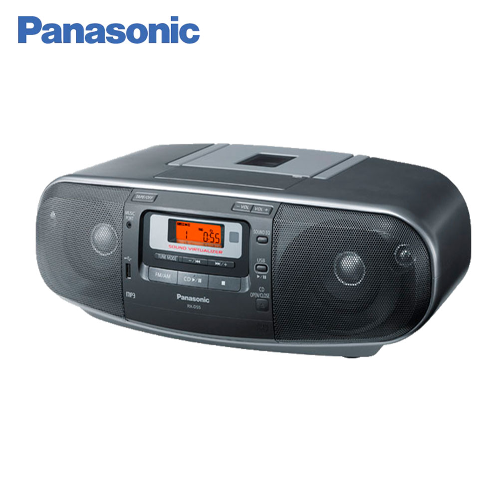 Cassette Recorders & Players Panasonic RX-D55EE-K Monoblock radio audiocassette tape cassette player USB МР3 Extra Bass System ezcap ezcap230 usb cassette tape to mp3 converter white