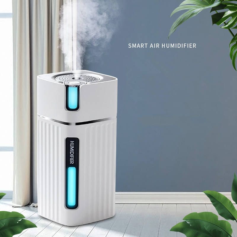 Smart Air Humidifier Ultrasonic Cool Mist Aroma Diffuser With Color LED Light For Office Car Umidificador Mist Maker Fogger