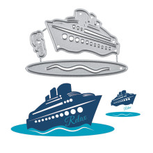 YaMinSanNiO Yacht on The Sea Metal Cutting Dies Barge Relax for Card Making Scrapbooking Embossing Cuts Stencil Craft