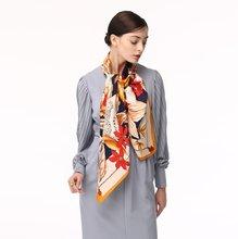 Новый стиль шарф шаль с леопардовым принтом Шелковый большой