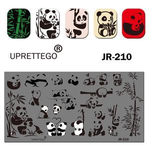 Image 2 - 2019 Paslanmaz Çelik tırnak yapıştırması Şablon Karahindiba Darbe Topu Panda Ay Melek Yin Yang Paskalya Alien Tırnak Aracı JR201 210