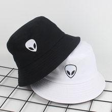 Alien – chapeau seau pliable pour femmes et hommes, couvre-chef de plage, de soleil, de pêcheur, d'extérieur, Hip Hop, casquette de Cigarette, cadeau