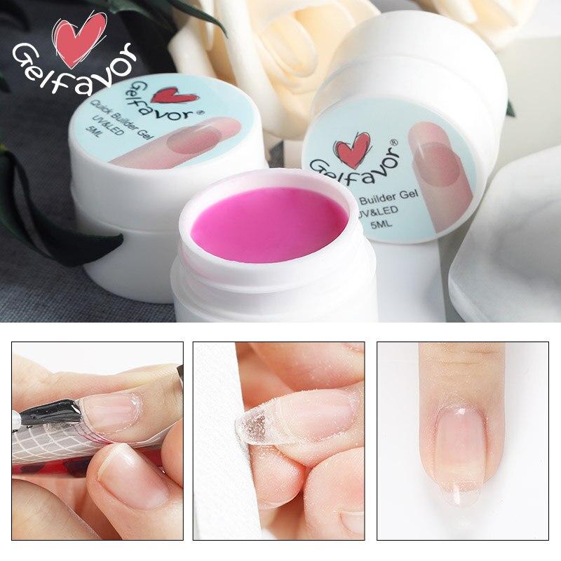 Gelfavor Gel For Nails Extension Builder Poly Gel Manicure Set Primer Base Top Semi Permanent UV Nail Gel Polish PolyGel