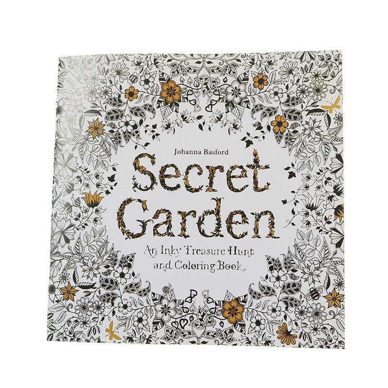 (1 = 24 Pages) English Wallpaper Secret Garden English Version Children Adult Easy Pressure Flower Time Painting Books