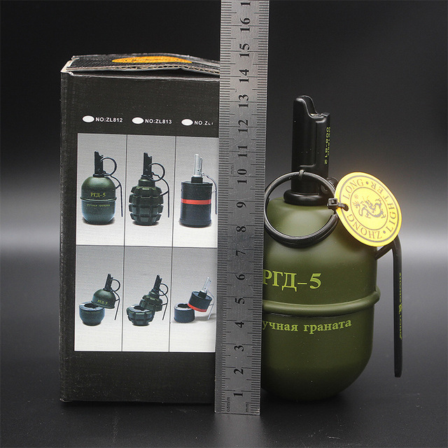 serin rgd 5 ru askeri bombali stil modeli ruzgar gecirmez gaz atesleyici kulluk masaustu dekor sigara hediye cakmak yok gaz