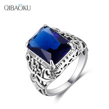 S925 Sterling Silver Rings Sapphire Amethyst Zircon Women Hollow Out Design Fine Jewelry Bridal Wedding Engagement Accessory