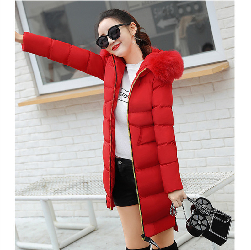 Parkas Mujer 2020 Winter Jacket Women Hooded Thick Coat Female Fur Collar Parka Women's Slim Coat Chaqueta Mujer WXF459